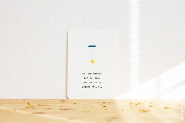 ninamaakt postcard 'Wat een wonder'