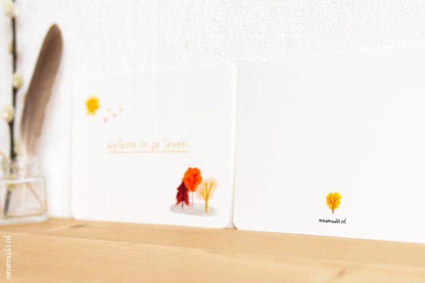 ninamaakt kaart - 'Welkom in je leven'