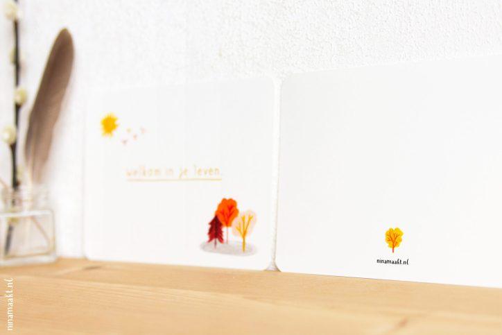 ninamaakt postcard - 'Welkom in je leven'