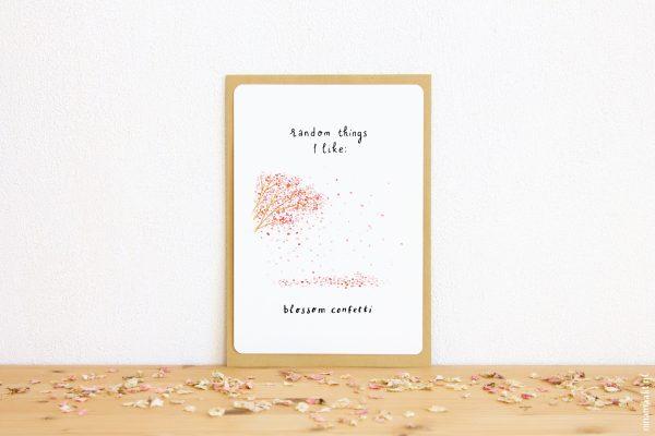 ninamaakt grote kaart miniposter random things blossom confetti