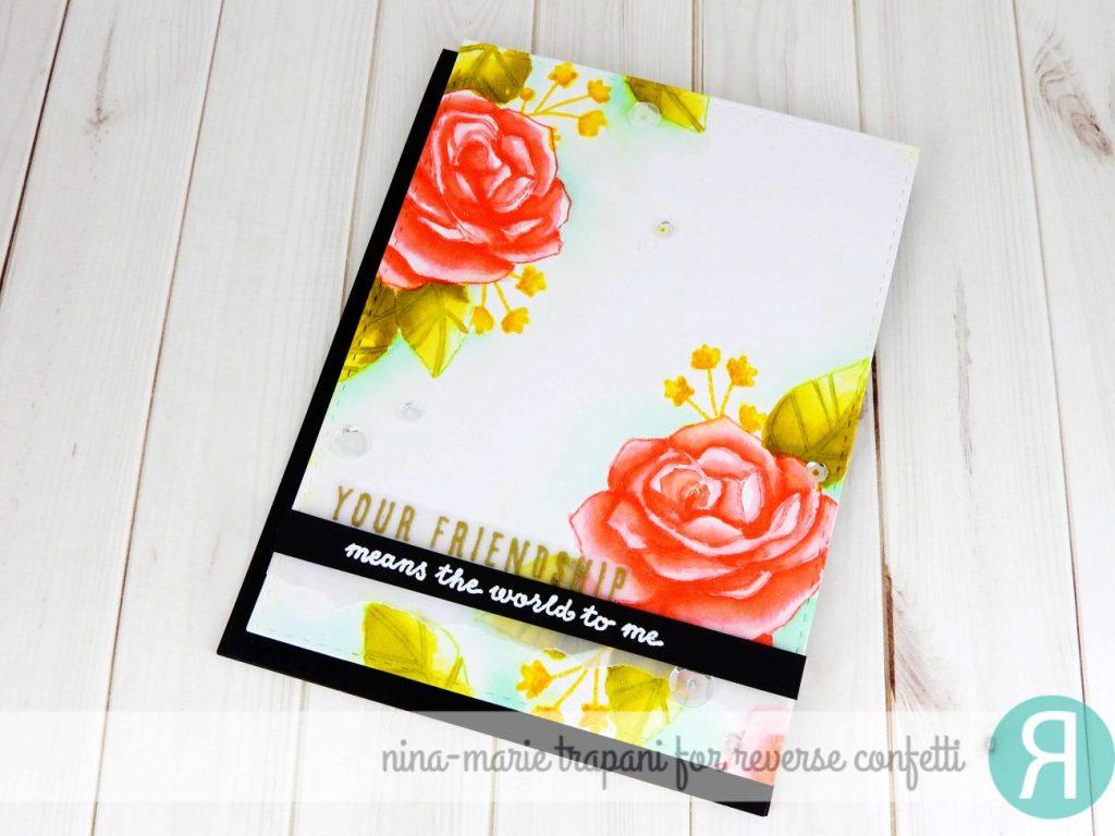 Distress Ink Watercolor Florals + Hop_3