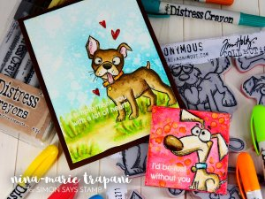 Watercoloring Images + Canvases with Distress Crayons_7