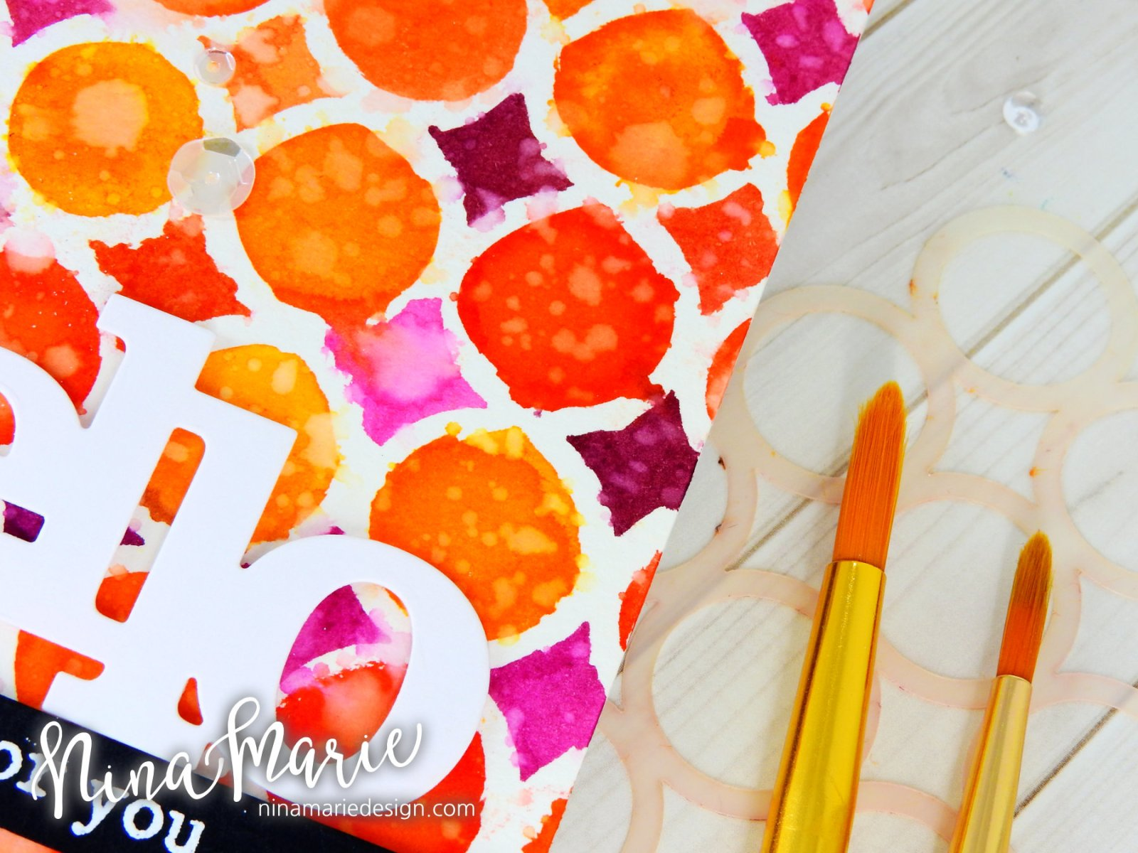 Watercoloring With Stencils + Distress Inks_4