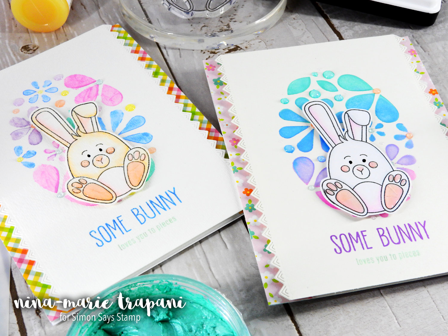 2 Ways to Use Embellishment Mousse with Stencils | Nina-Marie Design