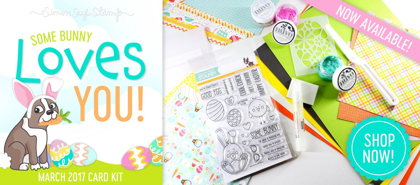 Some Bunny Loves You Simon Says Stamp March 2017 Card Kit   Nina-Marie Design