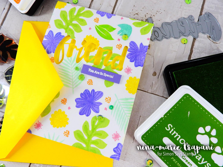 Stamp Layering with Pantone Green | Nina-Marie Design
