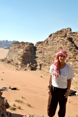 on top of dune in Wadi Rum