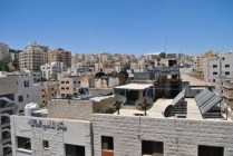 Khalifeh Plaza from a 5th floor window in the CIEE study abroad office