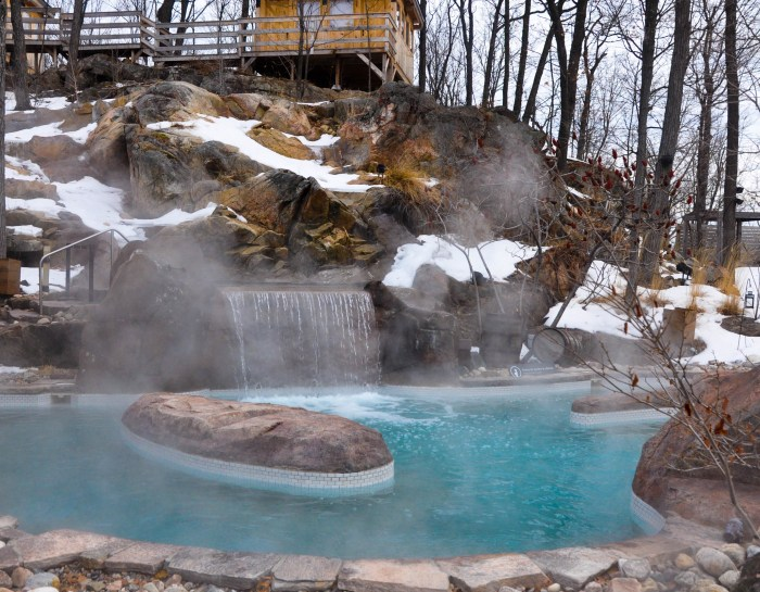 Visiting the Nordik Spa in Chelsea, Quebec in the Winter