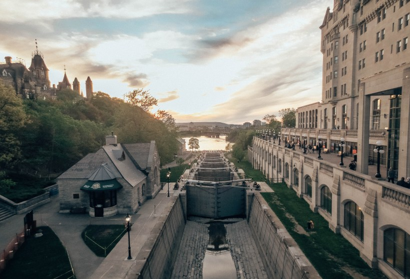 Chateau Laurier Lockes at Sunset