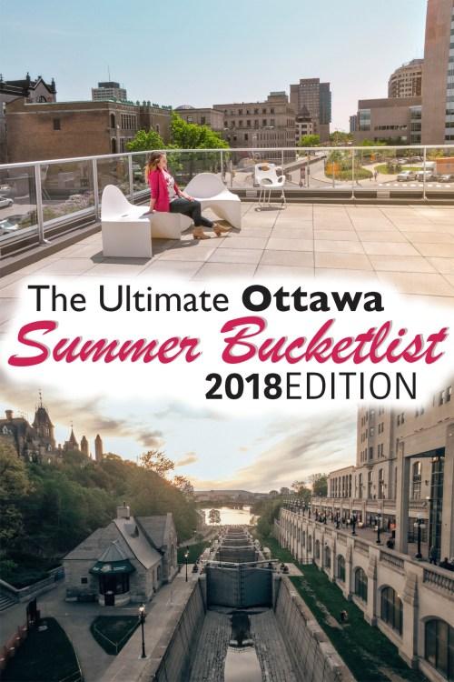 ottawa summer bucket list pin