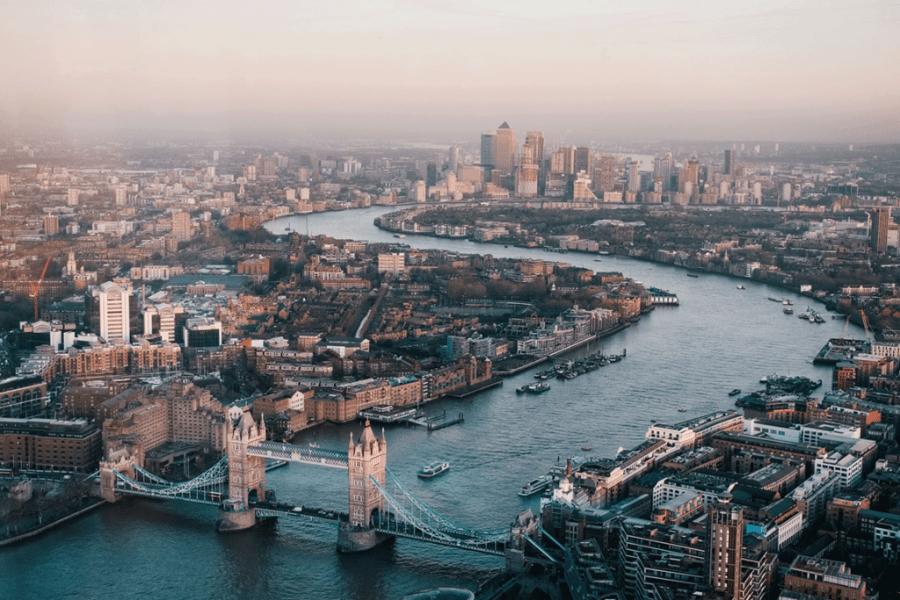 Skyline view of London