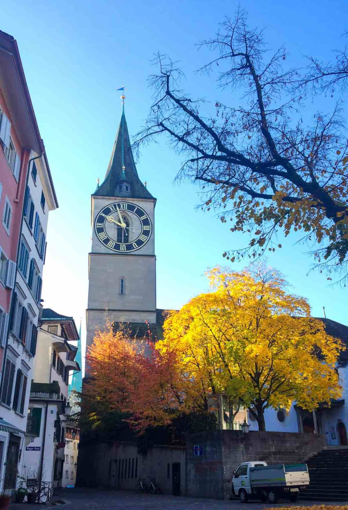 Zurich in one day: city itinerary - clock tower