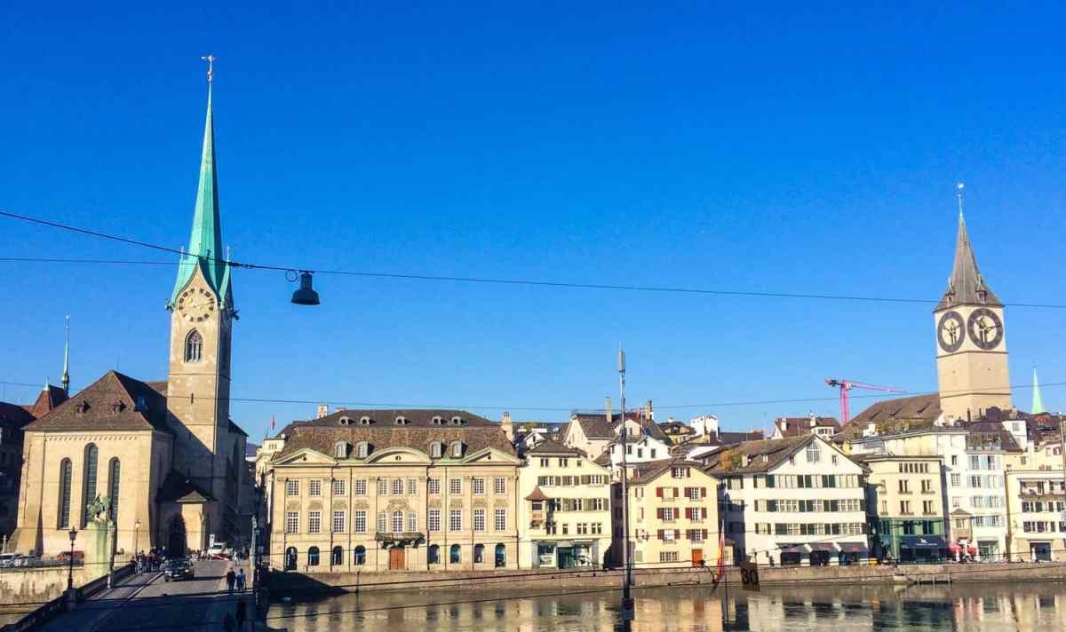 Zurich city street view