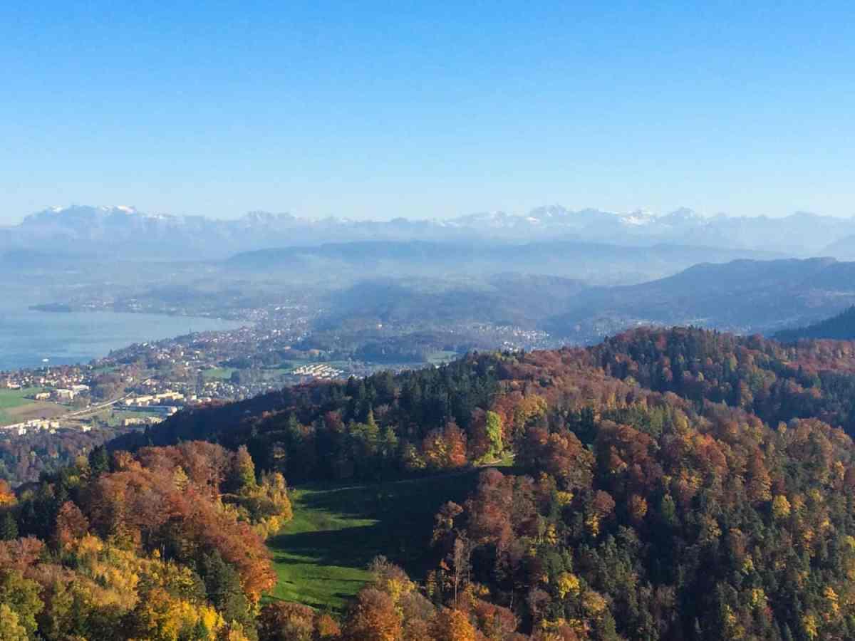 zurich in one day - views from uetilburg mountain