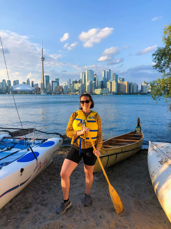 Sunset Canoe Tour of the Toronto Islands