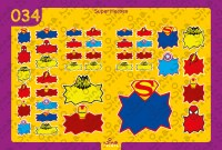 Superman Heroes Back to School Stickers/ Labels From Nina Prints