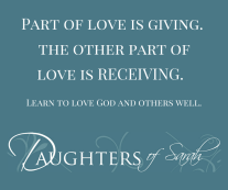Part of love is giving, but the other