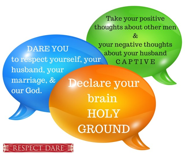 Take your positive thoughts about other men & your negative thoughts about your husbandCAPTIVE.