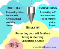 DoormatRespecting others without having self-respectGiving without receivingShame