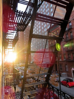 The first morning in NYC - view out of my Upper East Side Apt.