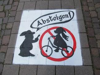 No bikes on this street!