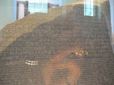 Close-up of the Rosetta Stone
