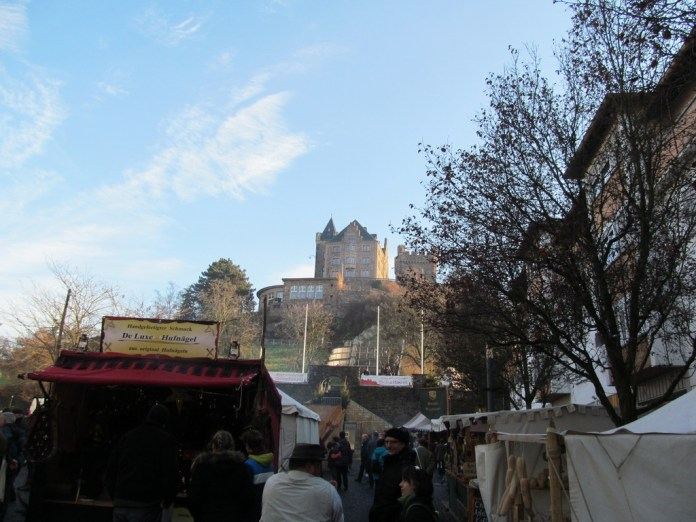 Medieval market and Burg Klopp