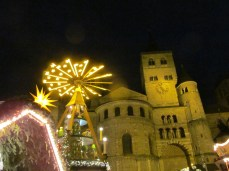 Christmas pyramid by Trier Cathedral