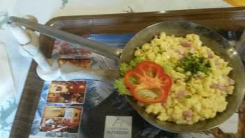 Spätzle noodles with ham & cheese