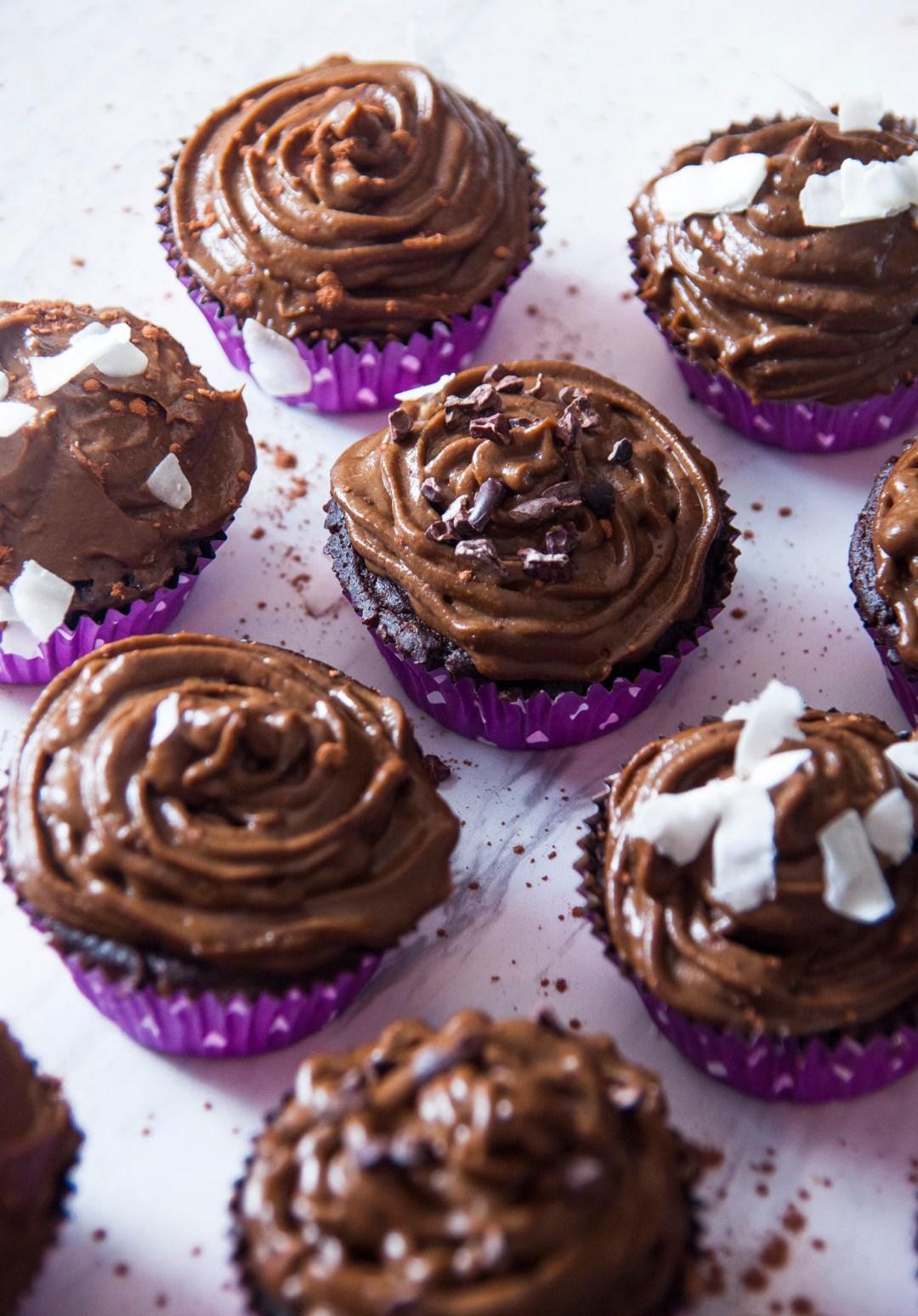 Vegan GF Chocolate Cupcakes with Avocado Frosting – Nina's Vegan ...