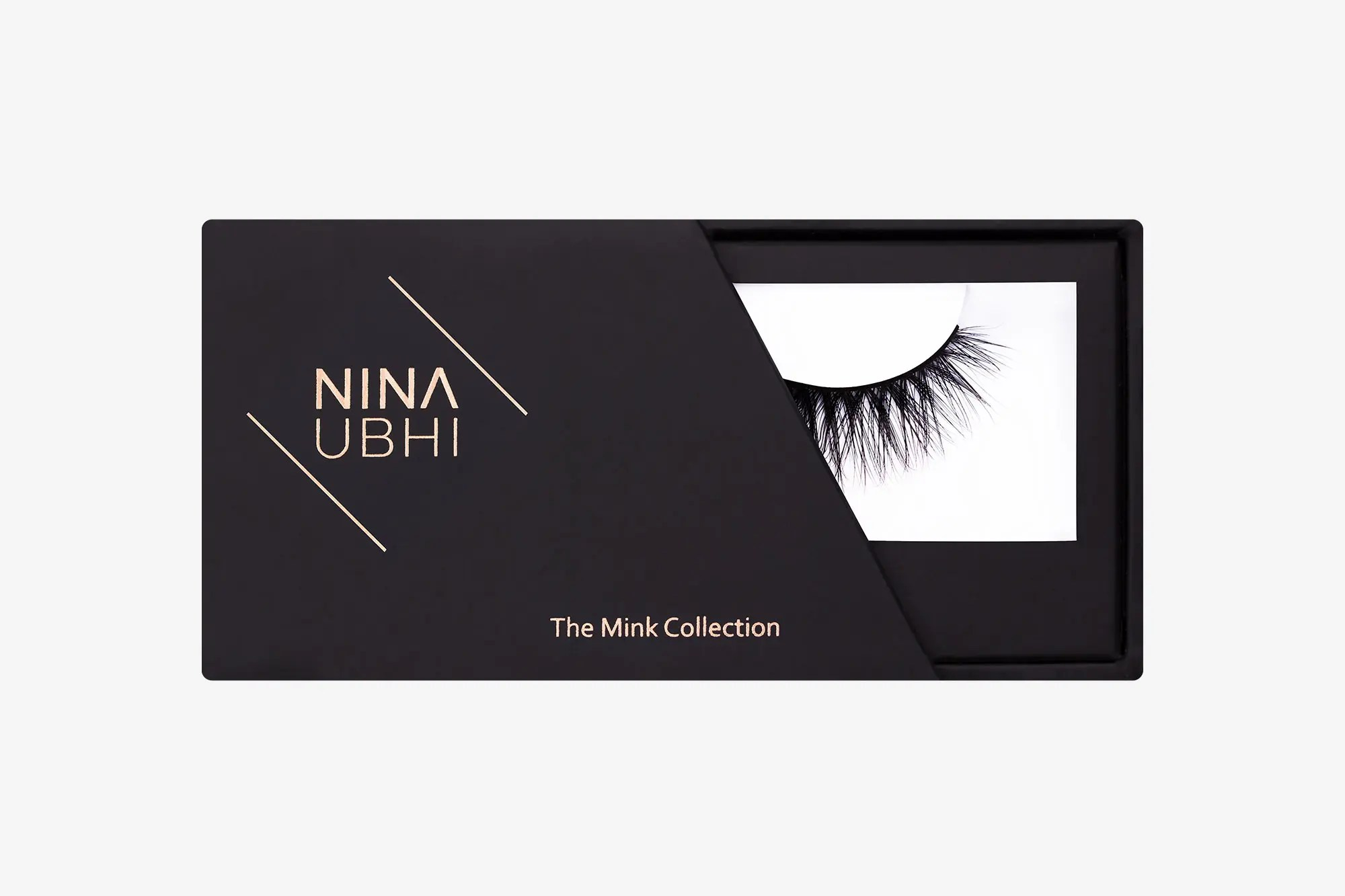 Eva Mink Lashes, false eyelashes in a Nina Ubhi branded box