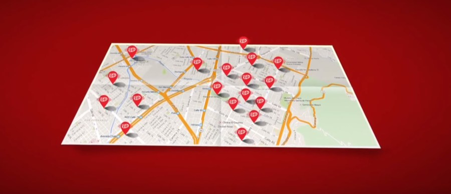 kit kat map billboard massage