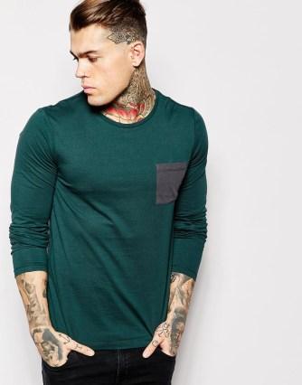 t-shirt vert emeraude asos