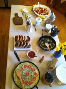 a breakfast spread