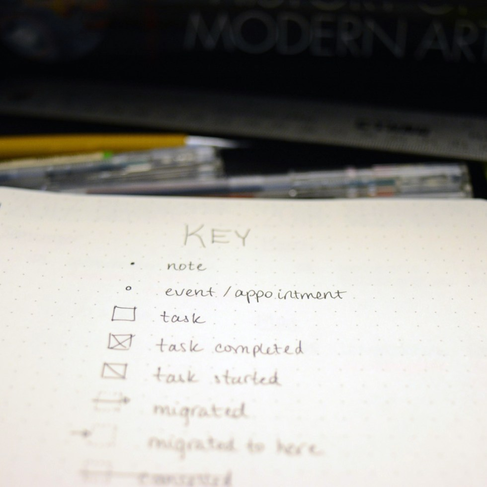ninenotes organization bullet journal diary lists
