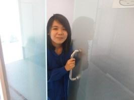 Tadah. My office door. It's cold inside!