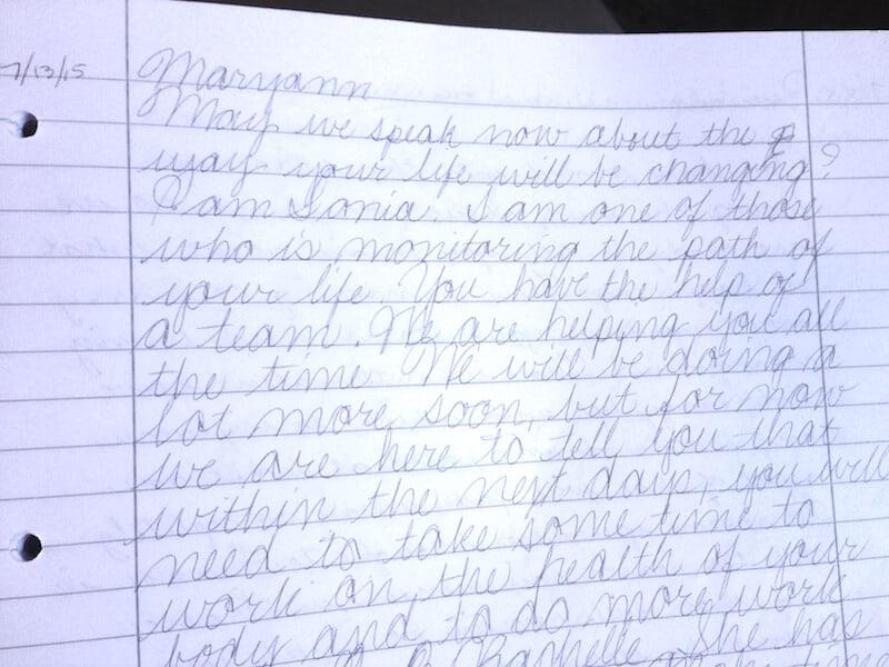 Sonia, Handwriting Example