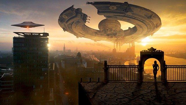 未来世界 未来都市 宇宙船