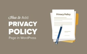 privacy policy wordpress