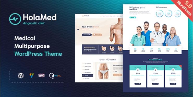 Medical Diagnostic & Plastic Surgery Clinic WordPress Theme