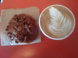 Coffee and Pecan Bun ...yum!