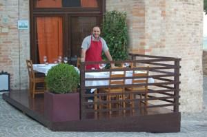 Andrea Preparing the Tables