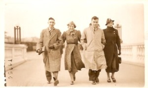 I'm adding this picture because I love it! I love the clothes, the style, it's a great photo! From the left, my dad, my mum, Uncle George and Auntie Florence (my mum's sister)