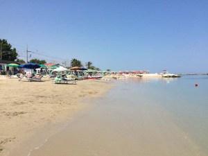 Blue Skies on the beach at Pedaso