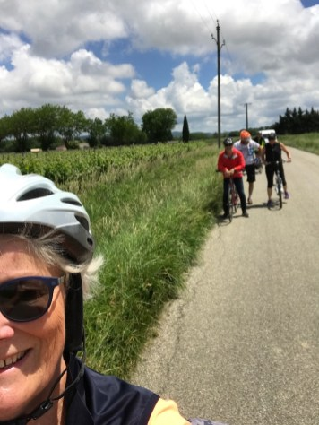 Bike ride with friends - sunshine!
