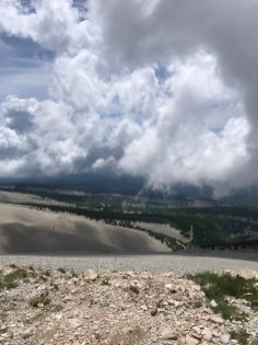 clouds at the top