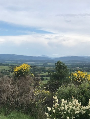 View towards the Pyrenees, Pic de Burgarach in the distance