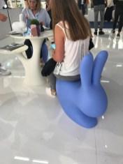 blue bunny chair