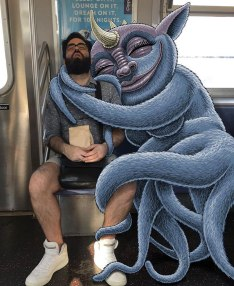 artist-adds-monsters-next-to-strangers-on-the-subway-02
